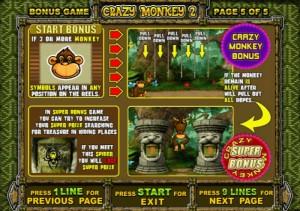 Crazy Monkey 2 бонусы