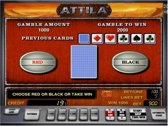 Аттила - переход в риск игру